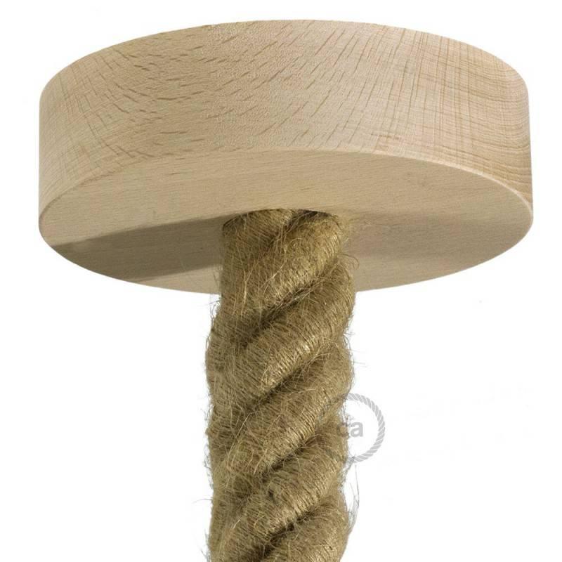 Lampe Mit Seil Und Holz