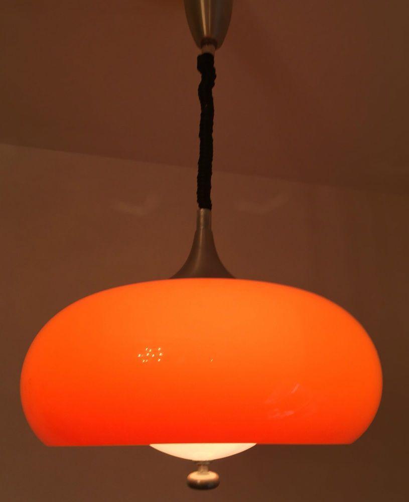 Lampe Orange 70er