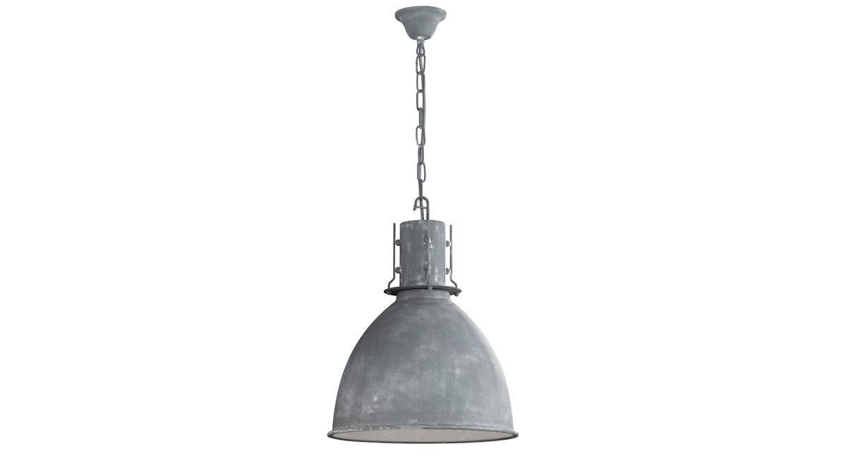 Lampe Rattan Grau