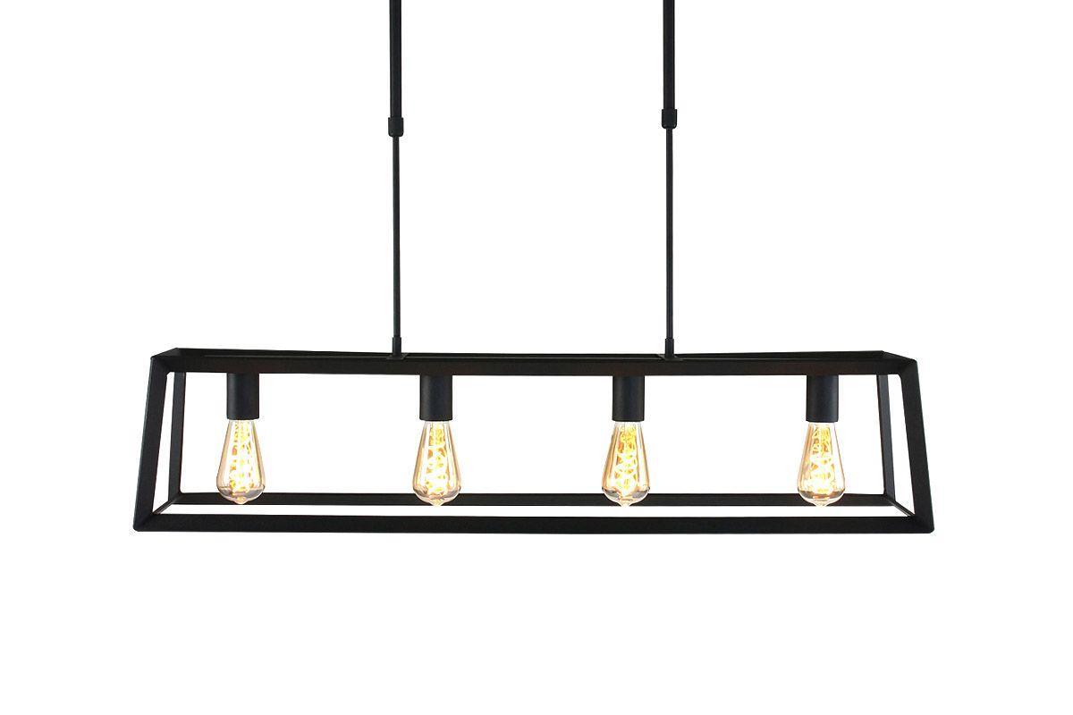 Lampe Schwarz Metall Holz