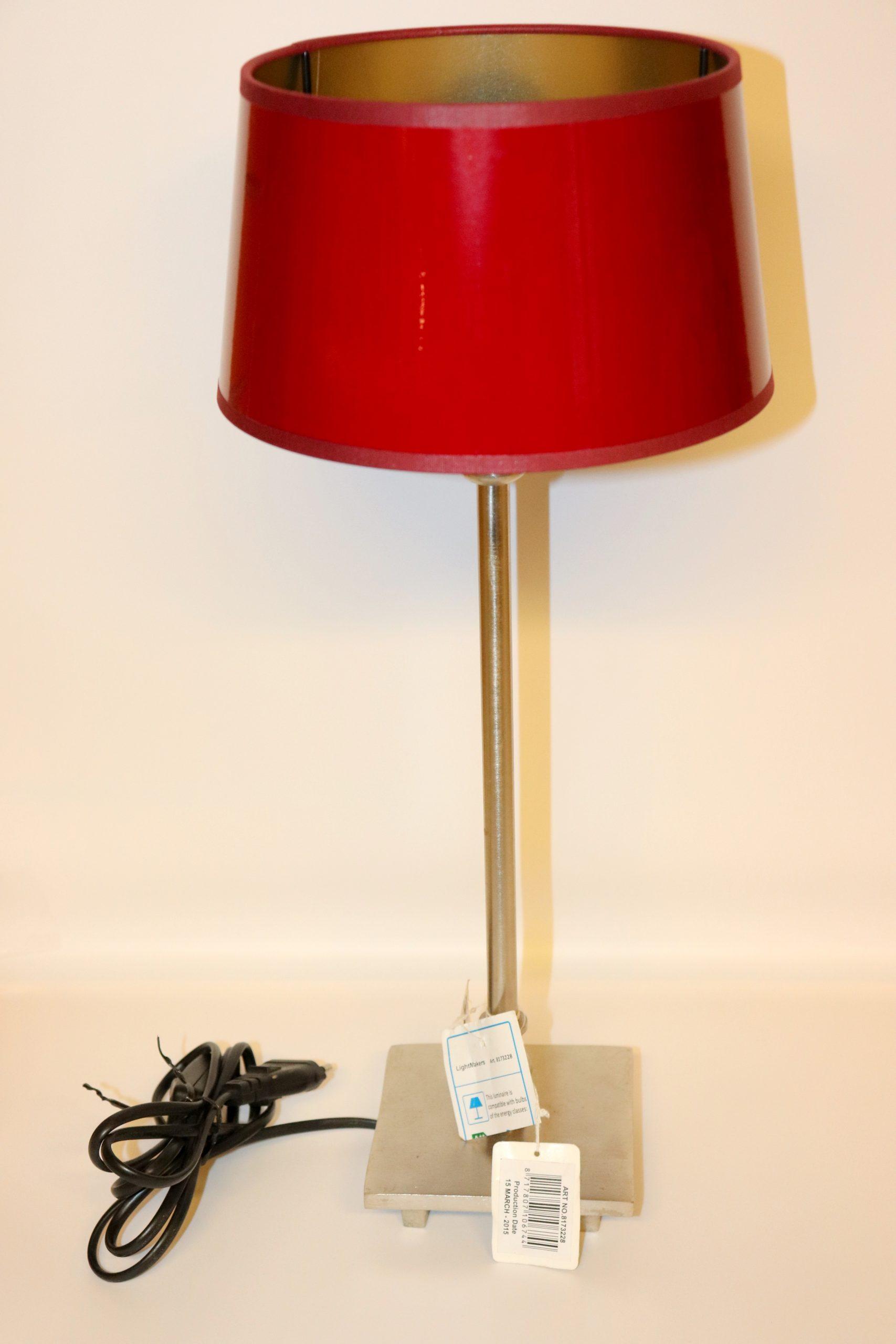 Lampenschirm Rot Weiß Gestreift