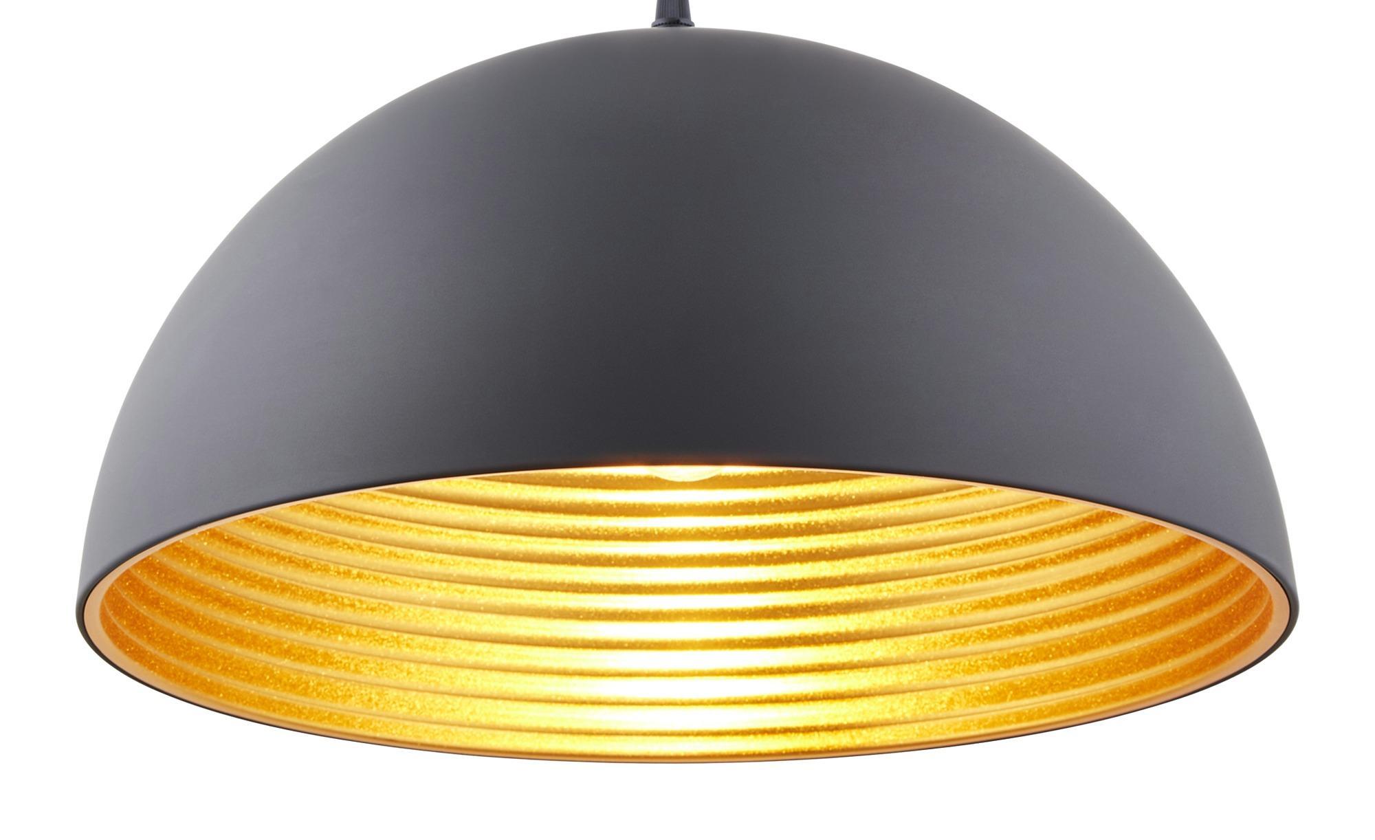 Lampenschirm Schwarz Gold 40 Cm