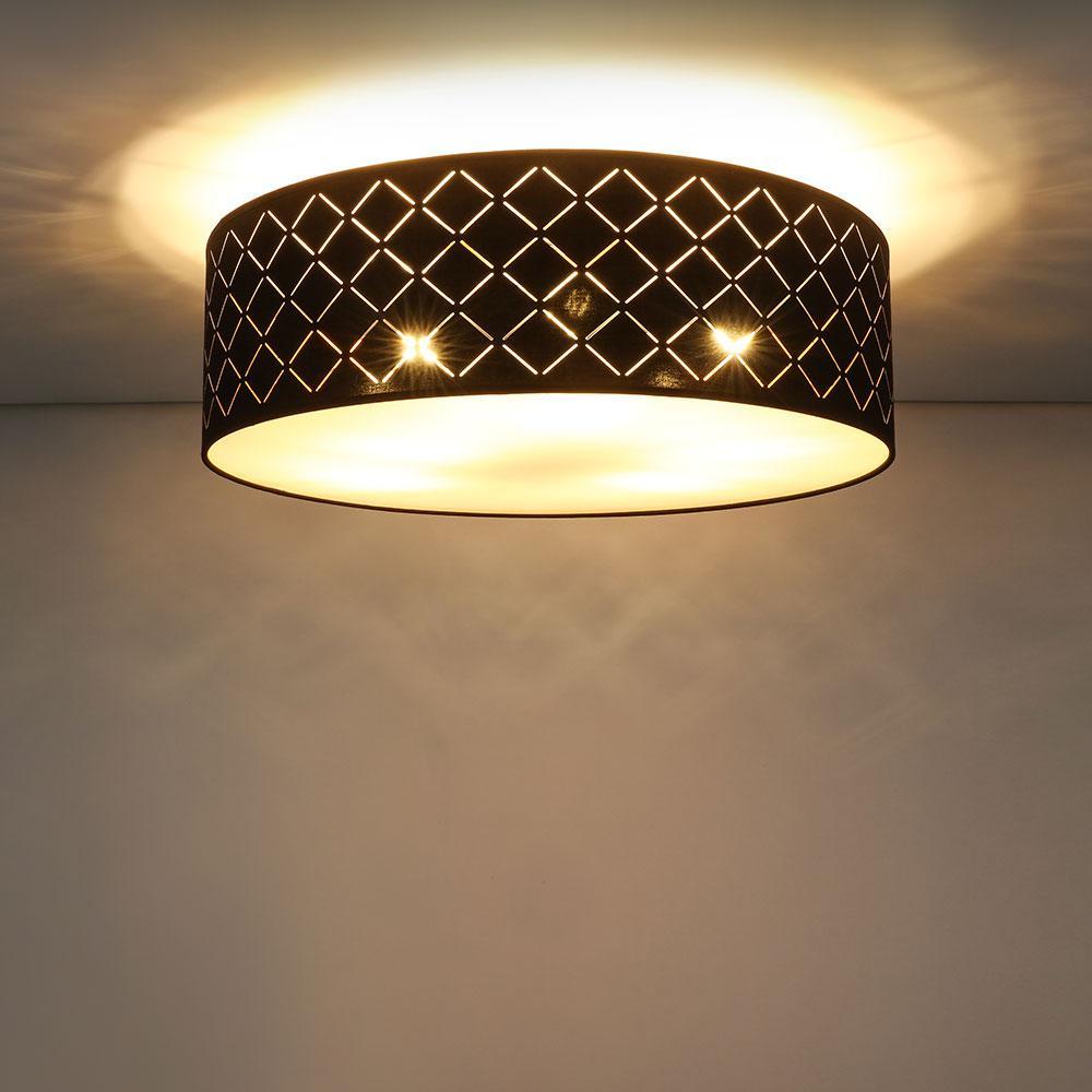 Lampenschirm Schwarz Gold 60 Cm