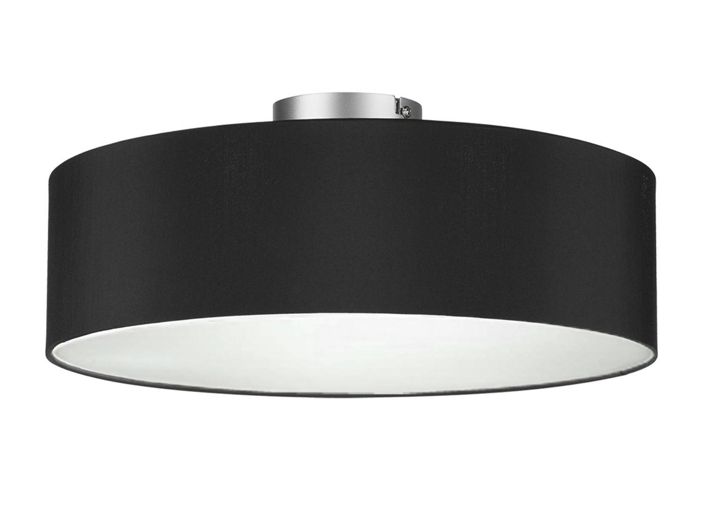 Lampenschirm Schwarz Silber