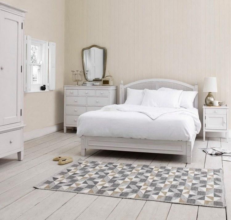 Landhaus Schlafzimmer Weiß Holz