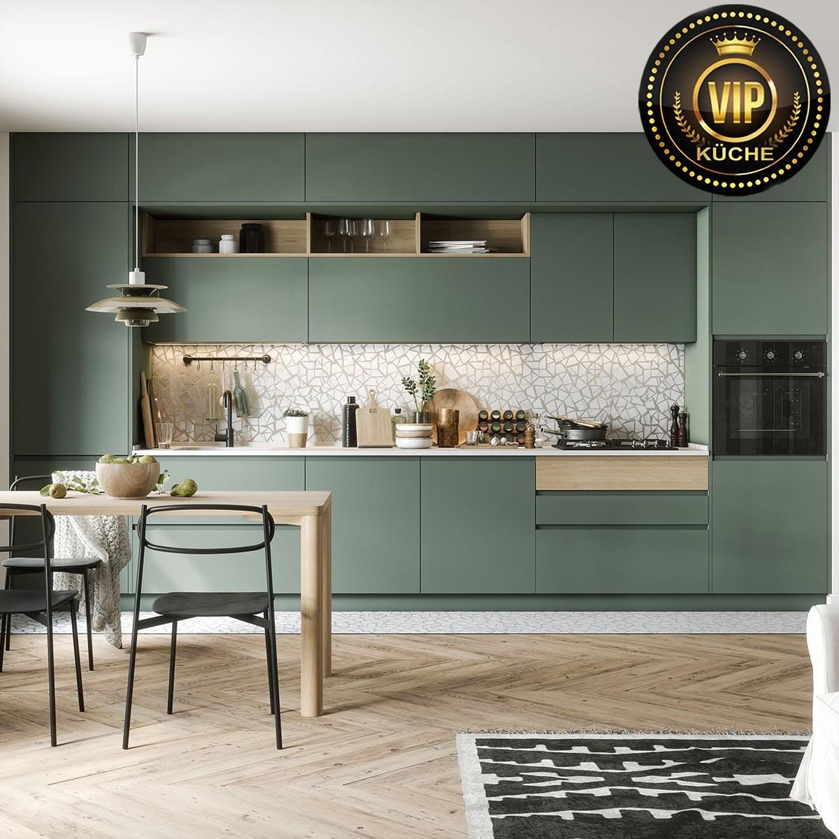 Landhausküche Modern Grün