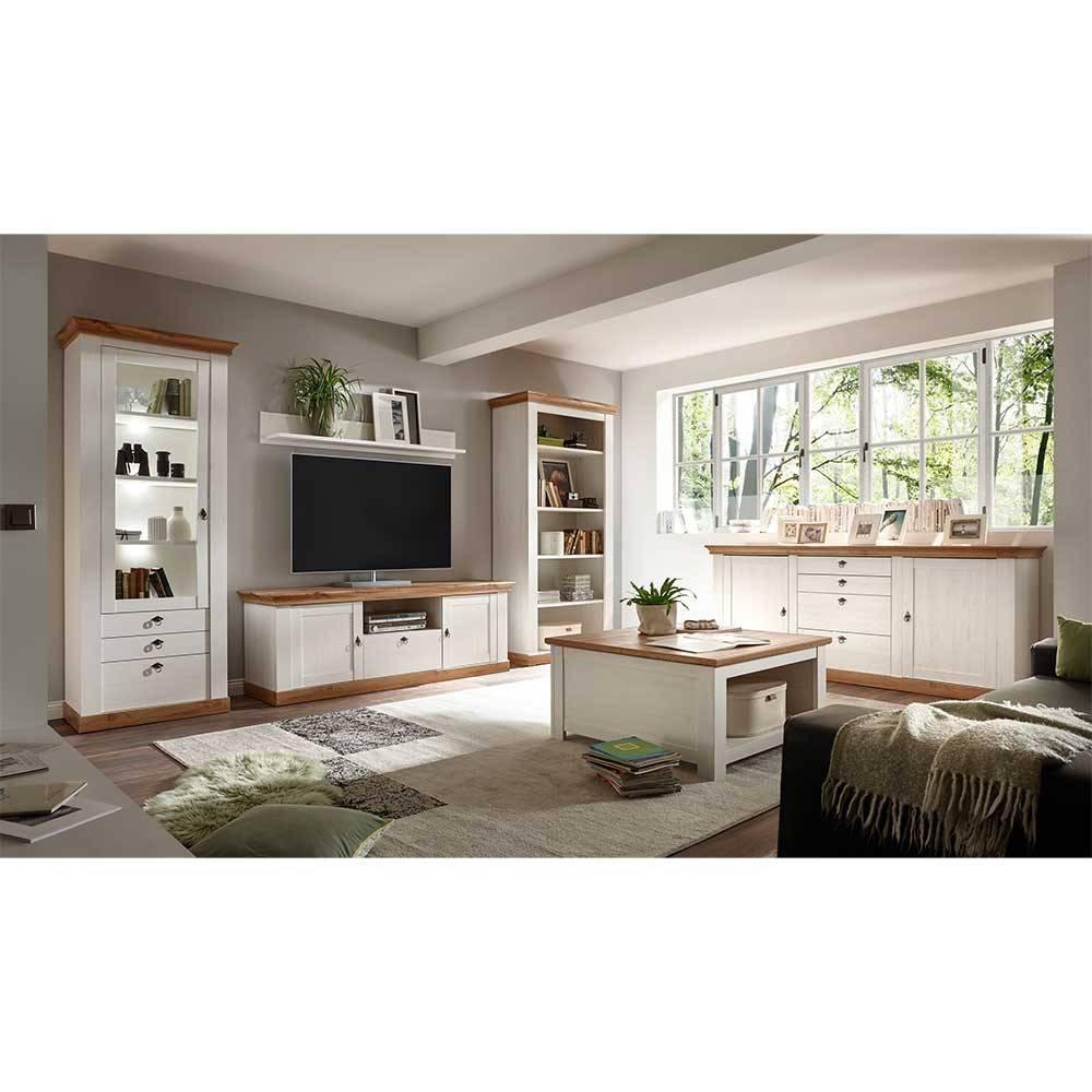 Landhausmöbel Wohnzimmer Weiss