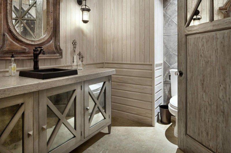 Landhausstil Badezimmer Ideen Holz