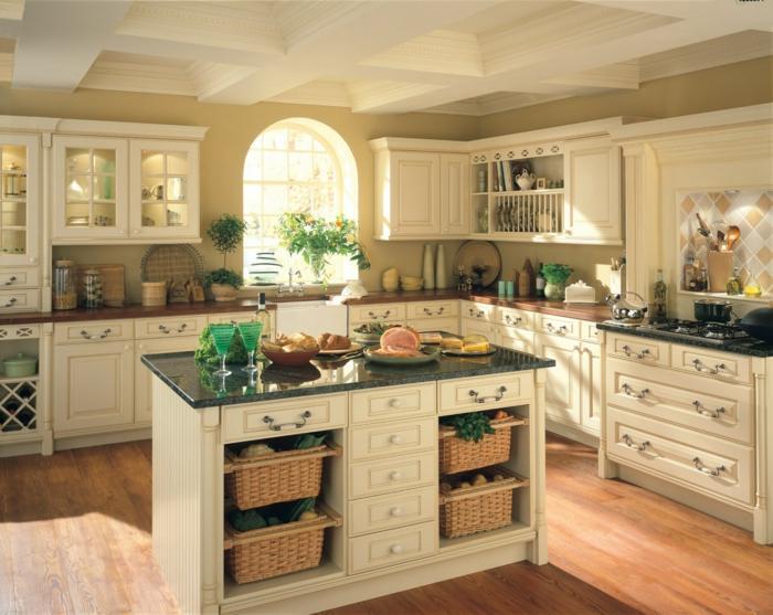 Landhausstil Küche Mit Kochinsel
