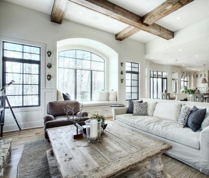 Landhausstil Wohnzimmer Rustikal Modern
