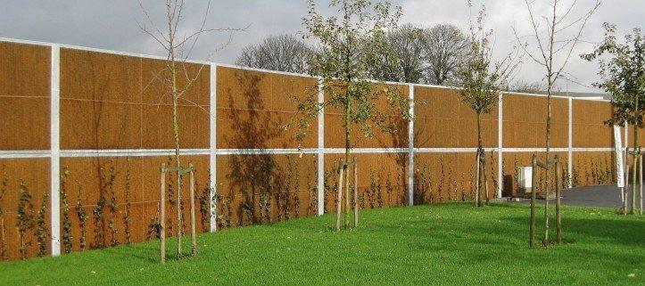 Lärm Schallschutzwand Garten