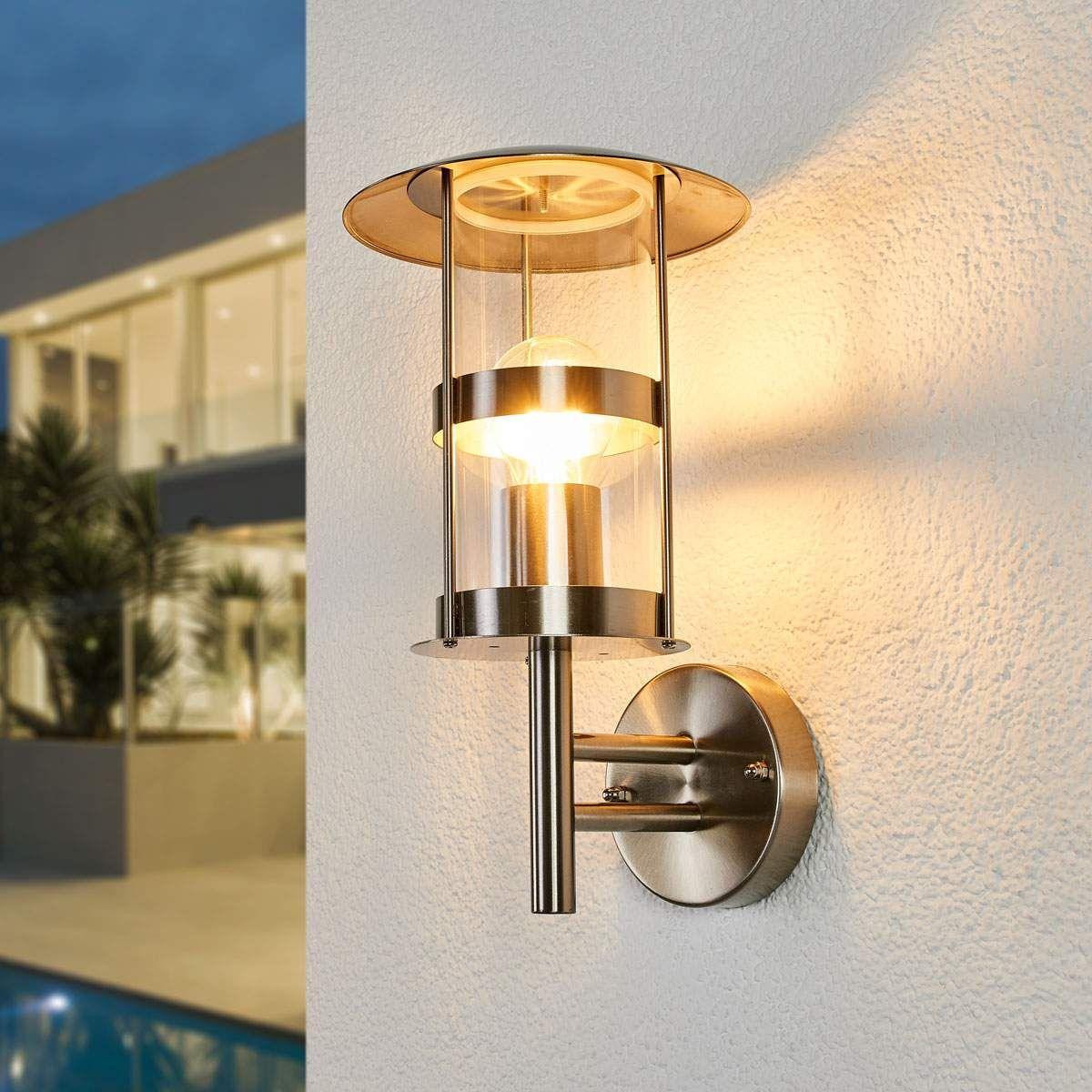 Led Außenlampe Mit Bewegungsmelder Und Schalter Für Dauerlicht