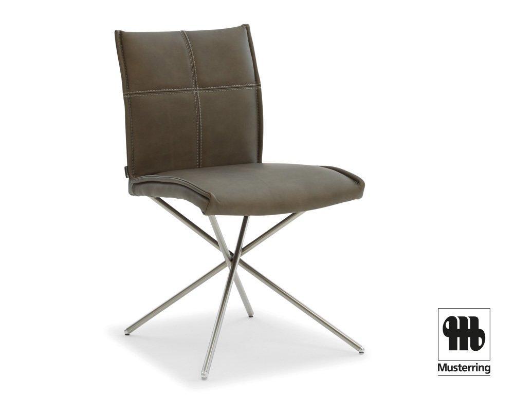 Leder Esstisch Stühle Grau