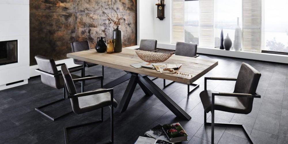 Leder Esstisch Stühle Modern