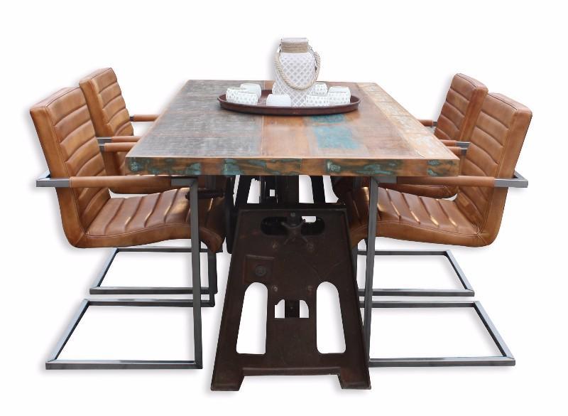 Leder Esstisch Stühle