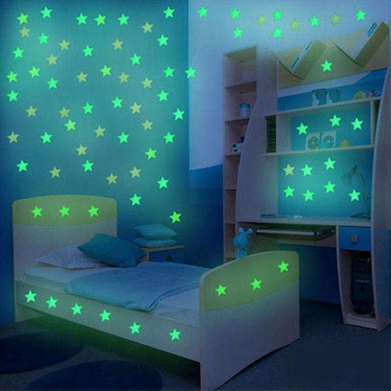 Leuchtender Sternenhimmel Kinderzimmer