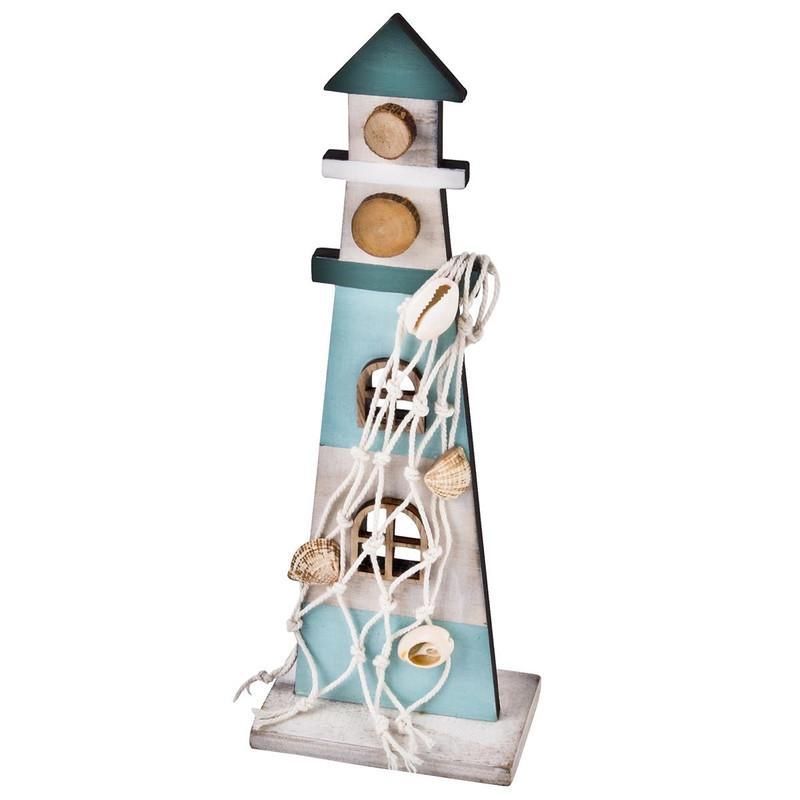 Leuchtturm Lampe Holz