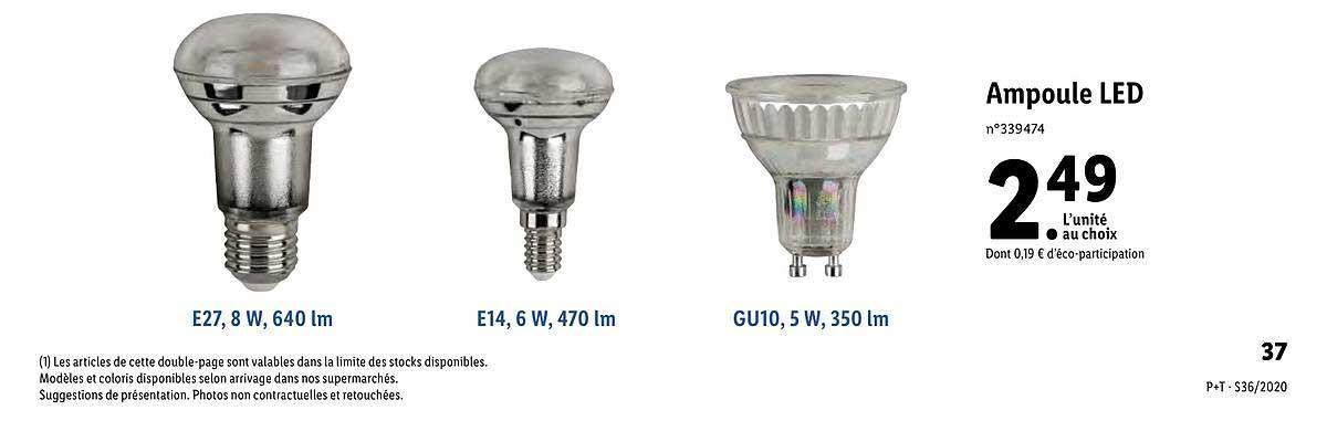 Lidl Catalogue Lampe Led