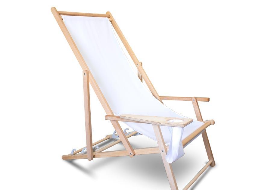 Liegestuhl Holz Stoff