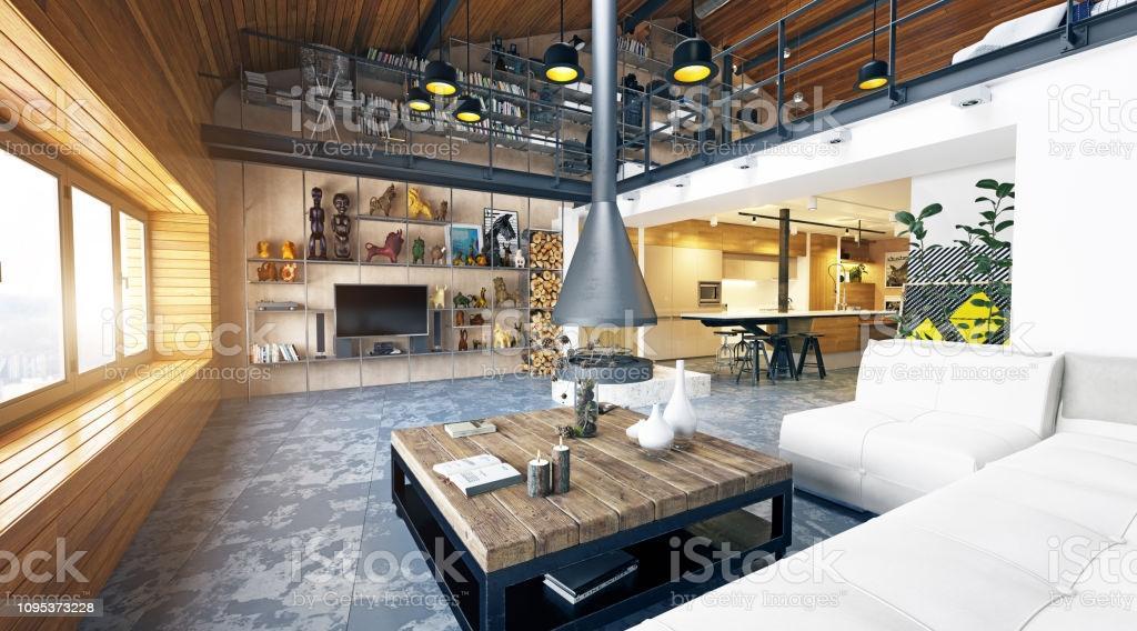 Loft Industrial Design Wohnzimmer
