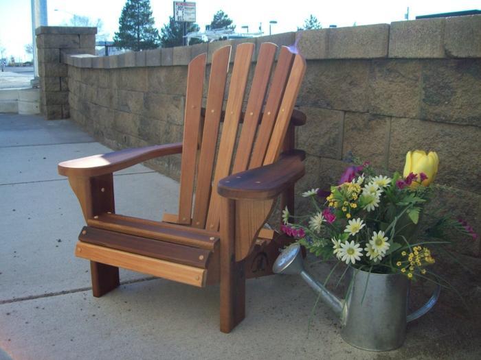 Lounge Sessel Garten Holz