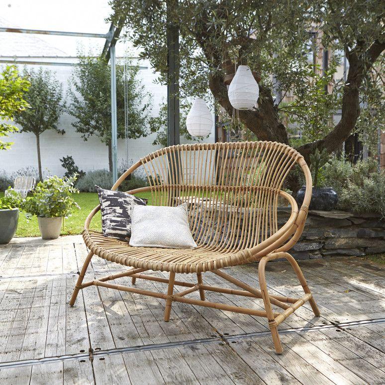 Lounge Sessel Garten Rattan