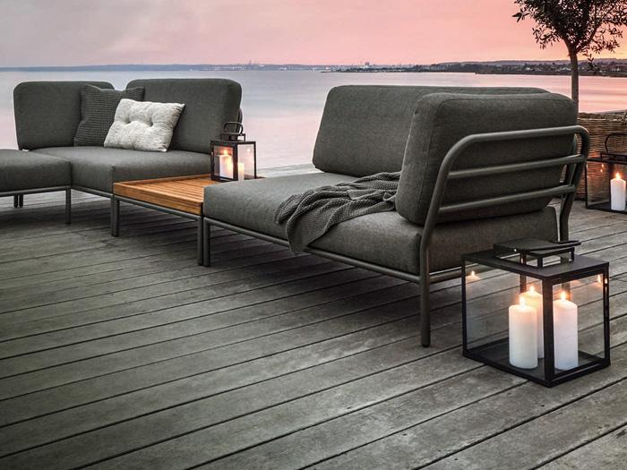 Loungemöbel Holz Metall