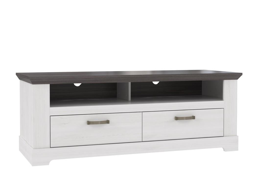 Lowboard Grau Weiß