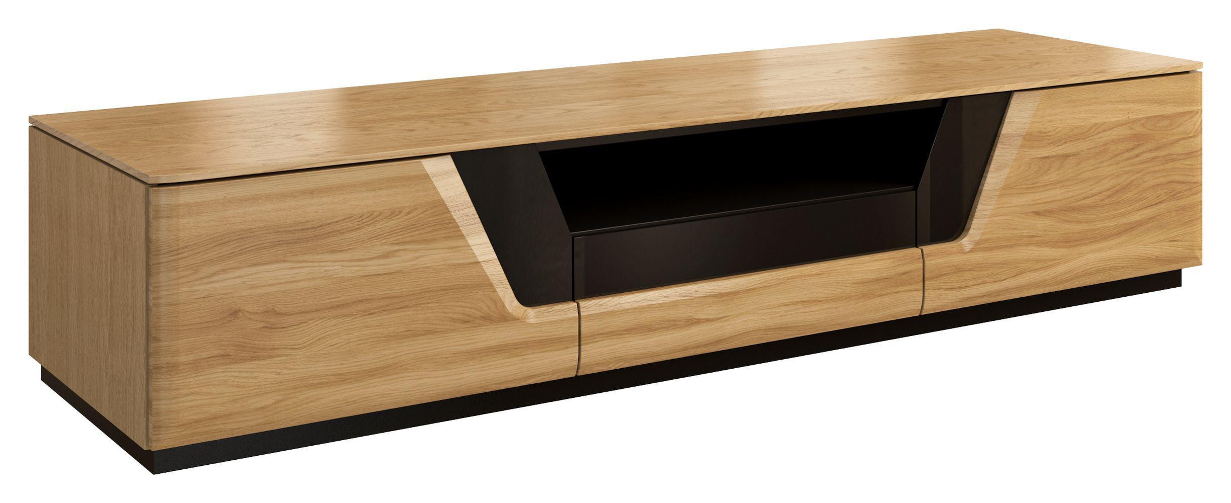 Lowboard Holz Schwarz
