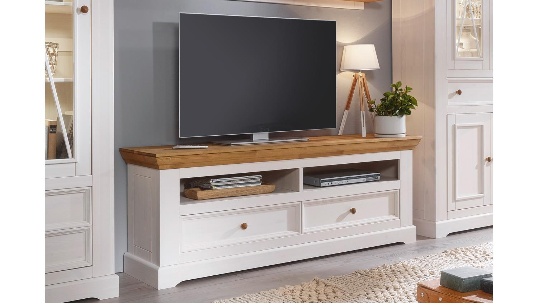 Lowboard Massivholz Weiß