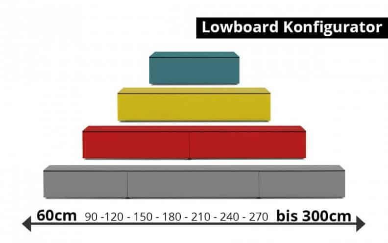 Lowboard Weiß Hochglanz 240 Cm
