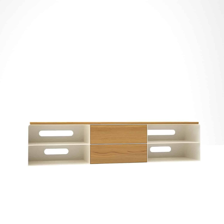 Lowboard Weiß Holz