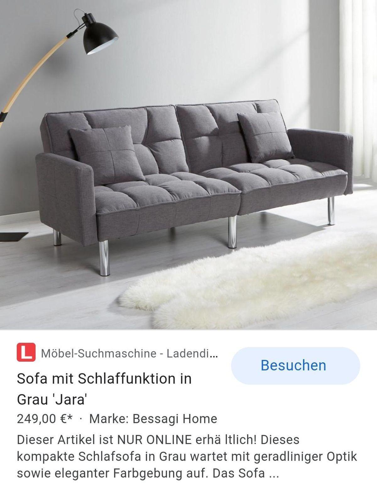 Mömax Sofa Grau Mit Bettfunktion