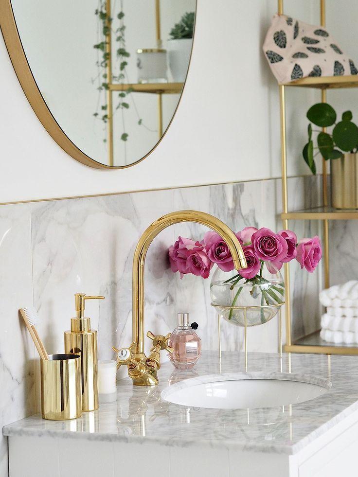 Marmor Badezimmer Gold