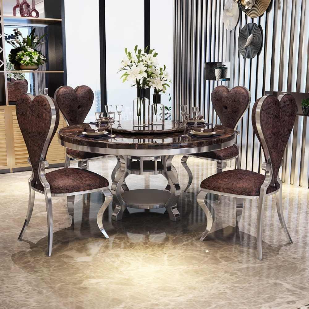 Marmor Esstisch Mit Stühlen