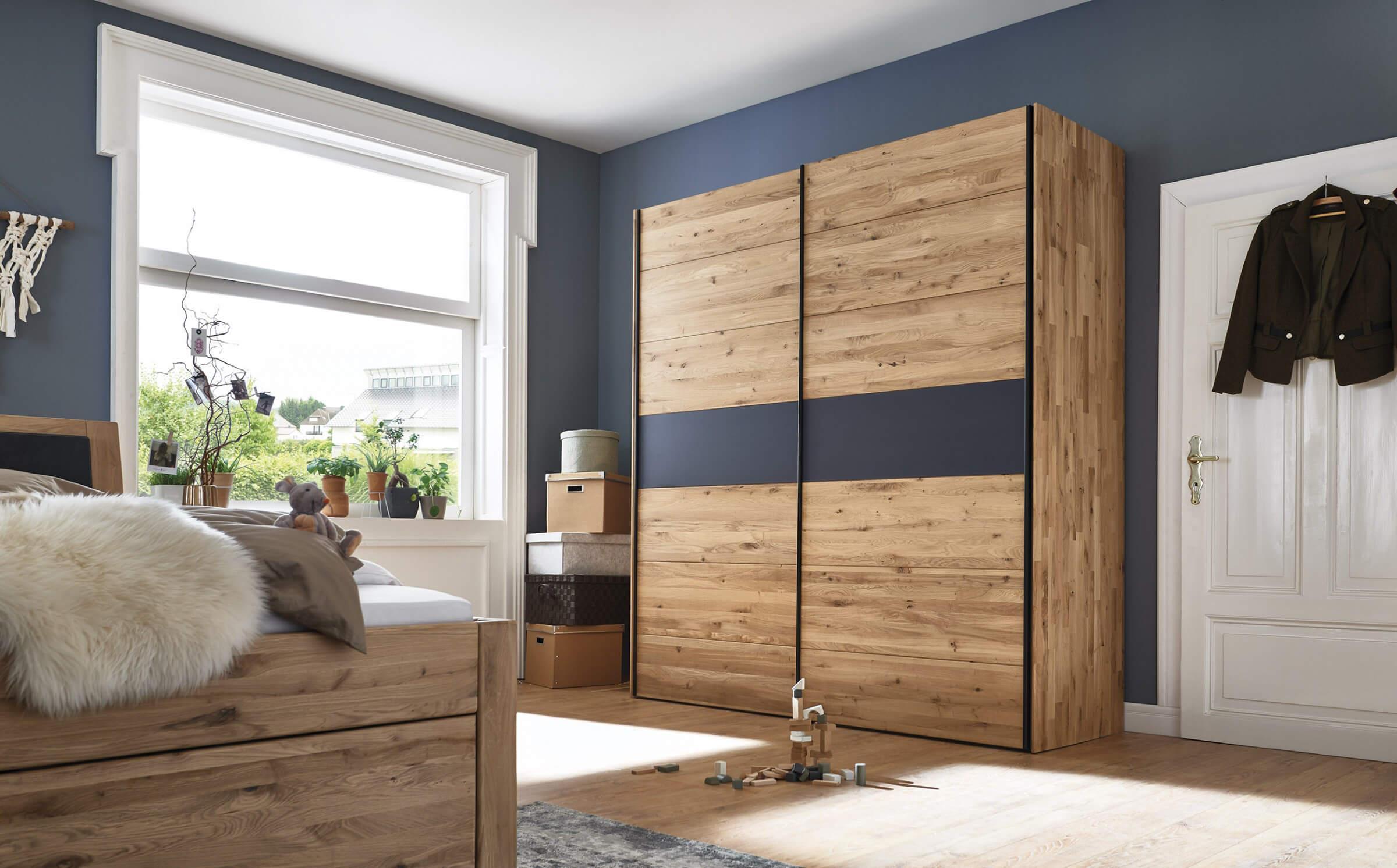 Massivholz Eckschrank Schlafzimmer