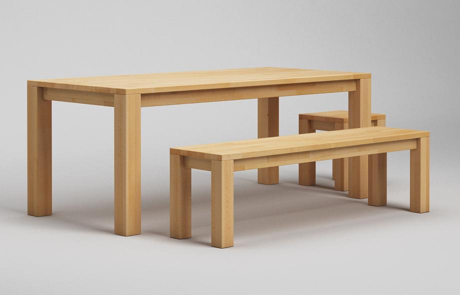 Massivholz Esstisch Mit Sitzbank