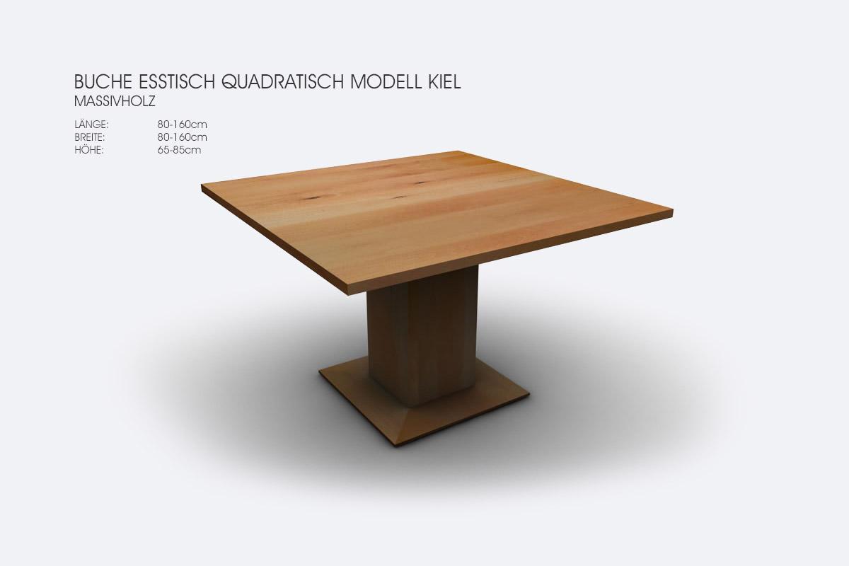 Massivholz Quadratische Esstische