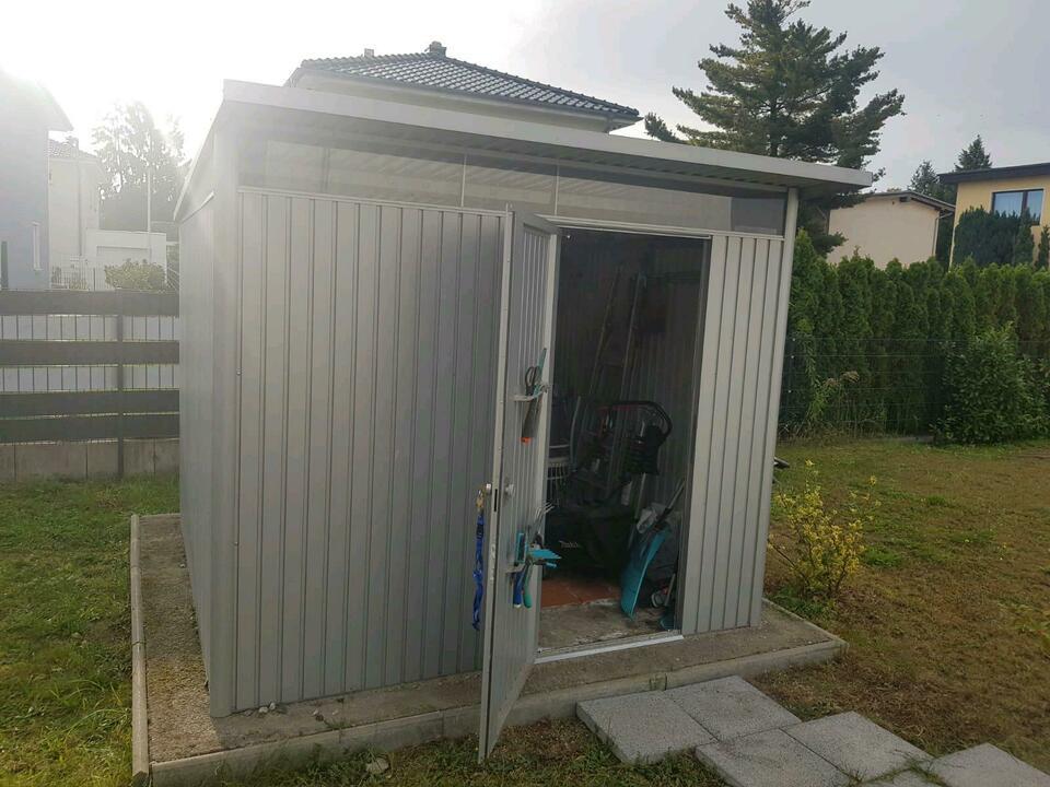 Metall Gartenhaus Pultdach