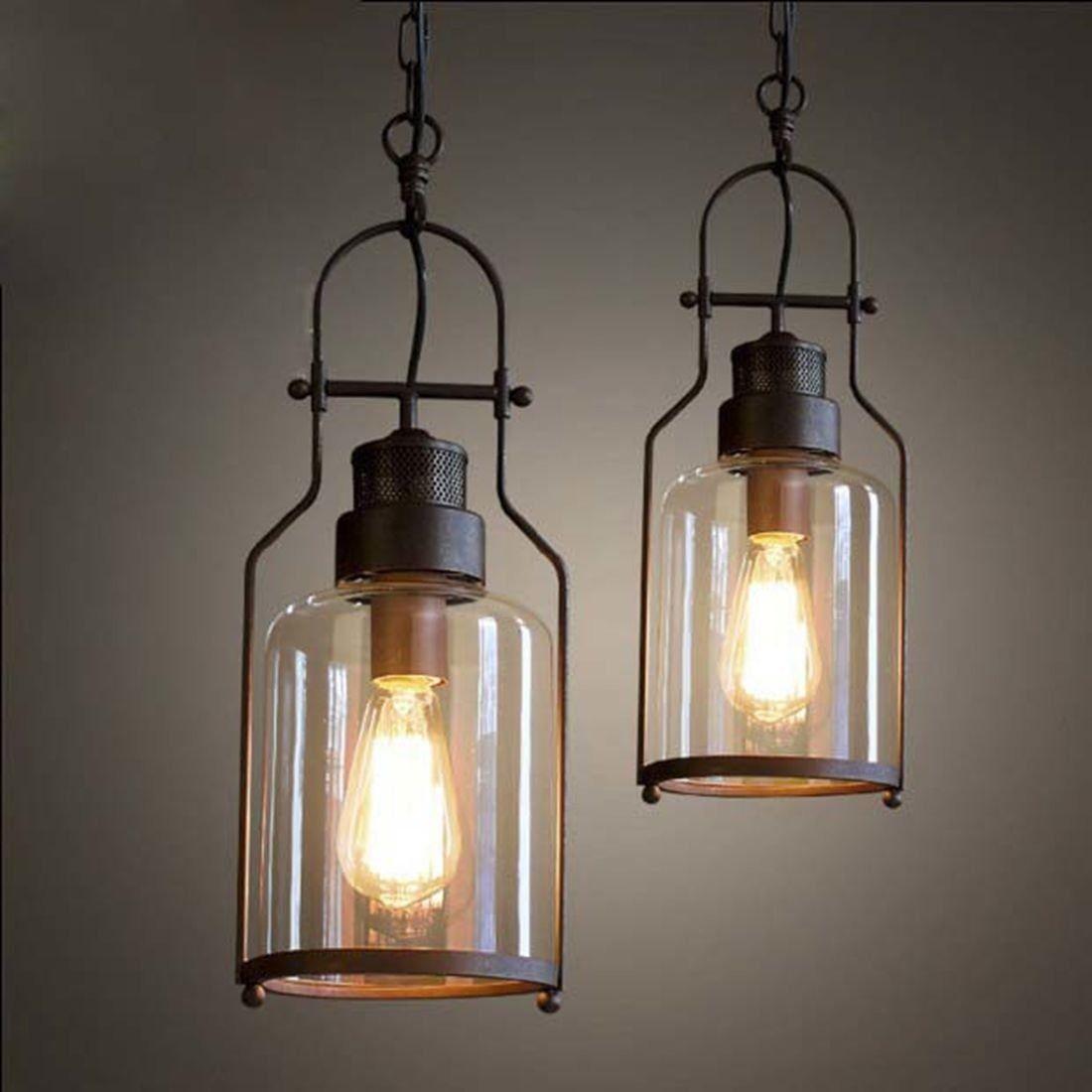 Metall Lampe Industrie Look
