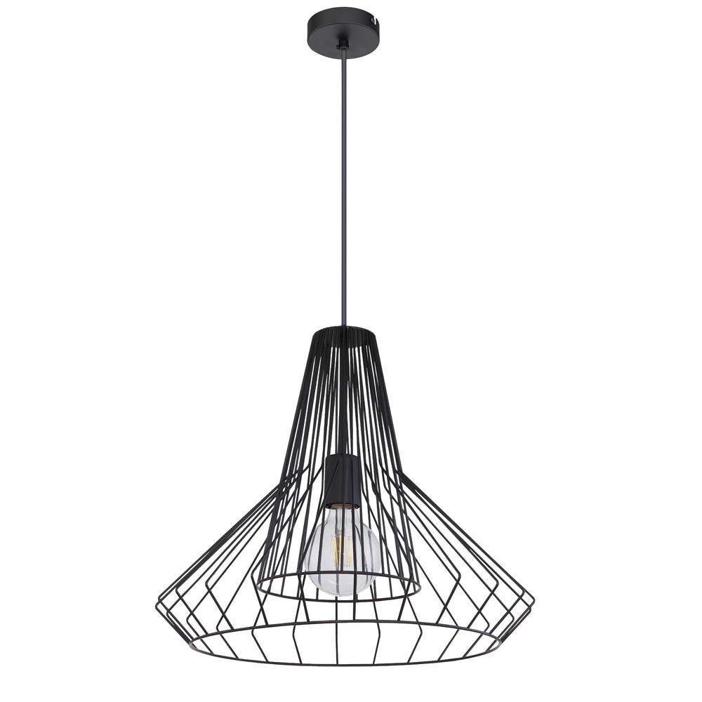 Metall Lampe Schwarz