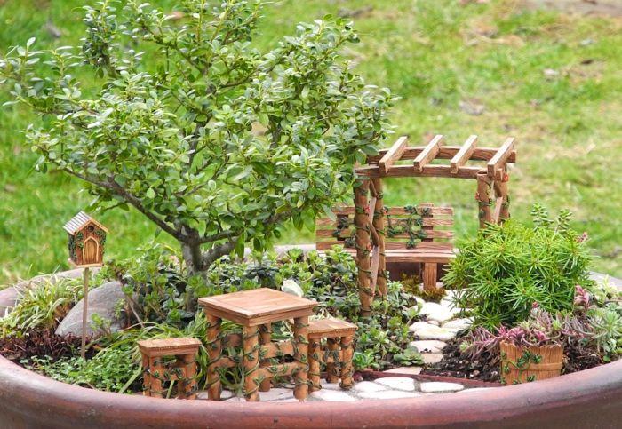 Miniatur Gartenmöbel Basteln