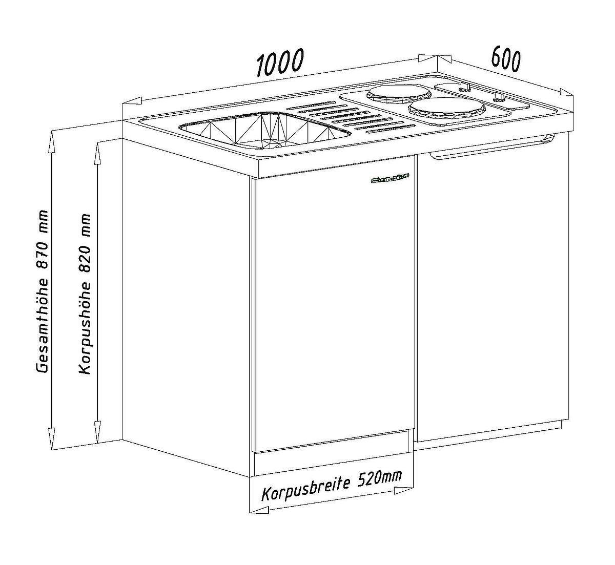 Miniküche Ohne Kühlschrank