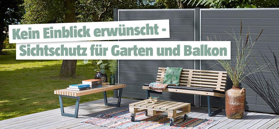 Mobiler Sichtschutz Holz Garten