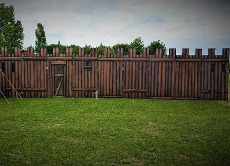 Mobiler Zaun Holz