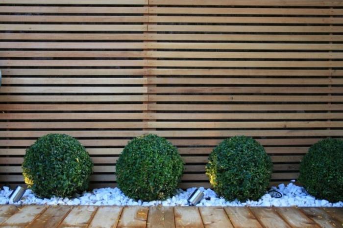 Modern Gartenzaun Holz Sichtschutz