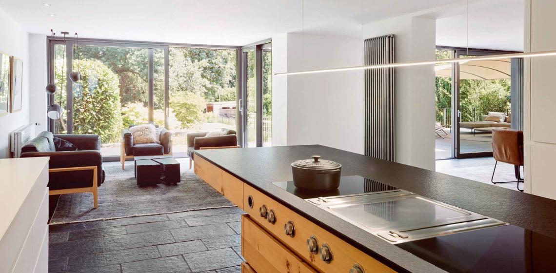 Modern Offene Wohnküche Mit Wohnzimmer
