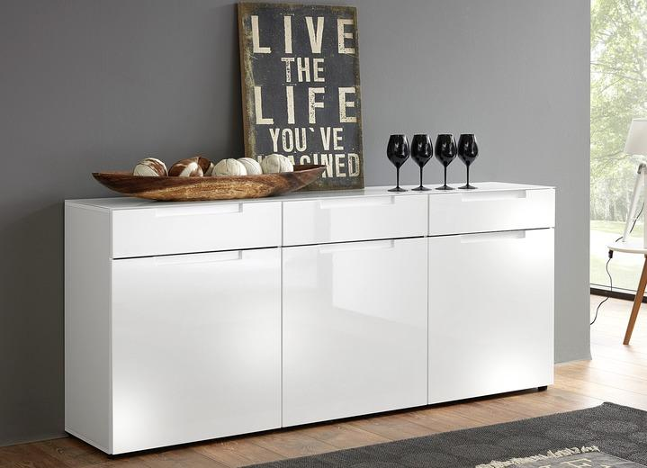 Modern Sideboard Hochglanz Weiß