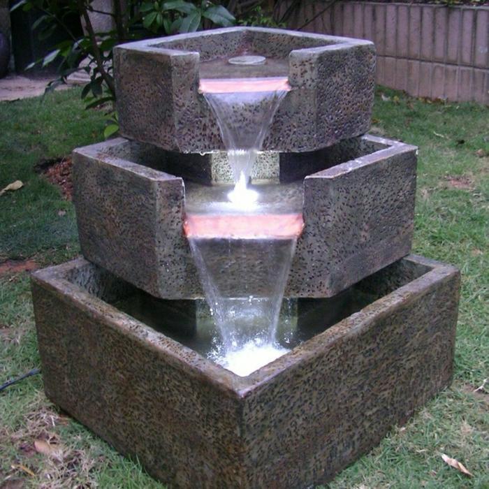 Modern Solarbrunnen Garten