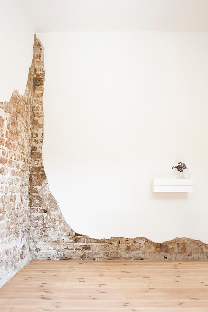 Modern Steinwand Wohnzimmer Ideen
